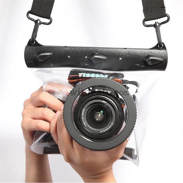 デジタル一眼レフカメラ用防水ケース 500D 600D 5D Nikon D7000 D5100など対応