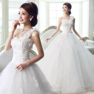 花嫁ドレス ウエディングドレス 二次会 結婚式ドレス 肩紐