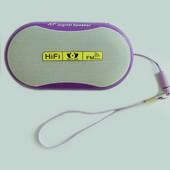 iPod・携帯プレーヤー用ポータブルスピーカー 紫