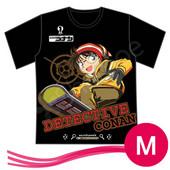 「名探侦コナン」江戸川コナン Tシャツ 男女兼用 ブラック サイズ M