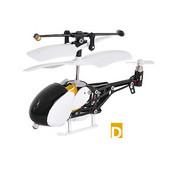 3.5ch マイクロIR(赤外線)ヘリコプター iPhone/iPad/iPodTouchで操縦 丸型 ホワイト