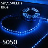 新型5m防水SMD5050型LEDストリップライト/テープライト/リボンライト ブルー