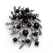 ブローチ パールのブローチ パーティアクセサリ 真珠付き おしゃれ 合金