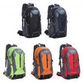40L ハイキングバッグ デイバッグ リュック アウトドアバッグ 鞄 ザック レインカバー レディース メンズ 男女兼用